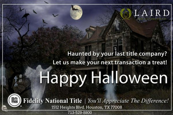 Haunted by your last title company? Let us make your next transaction a treat!