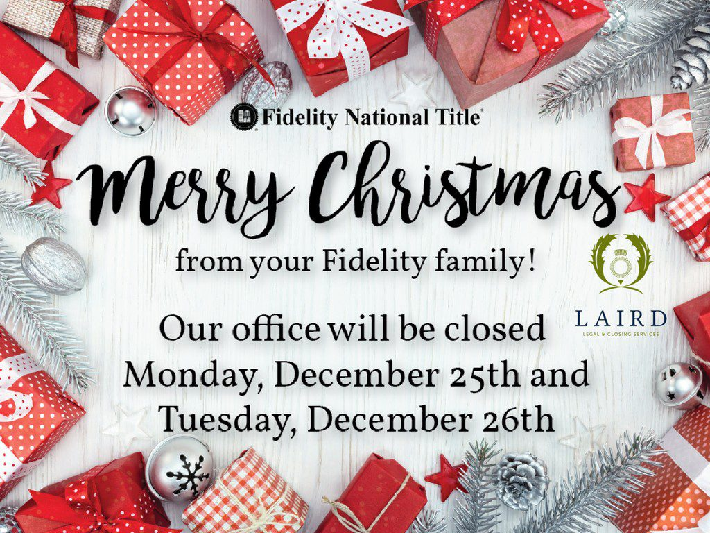 Merry Christmas from your Fidelity Family!
