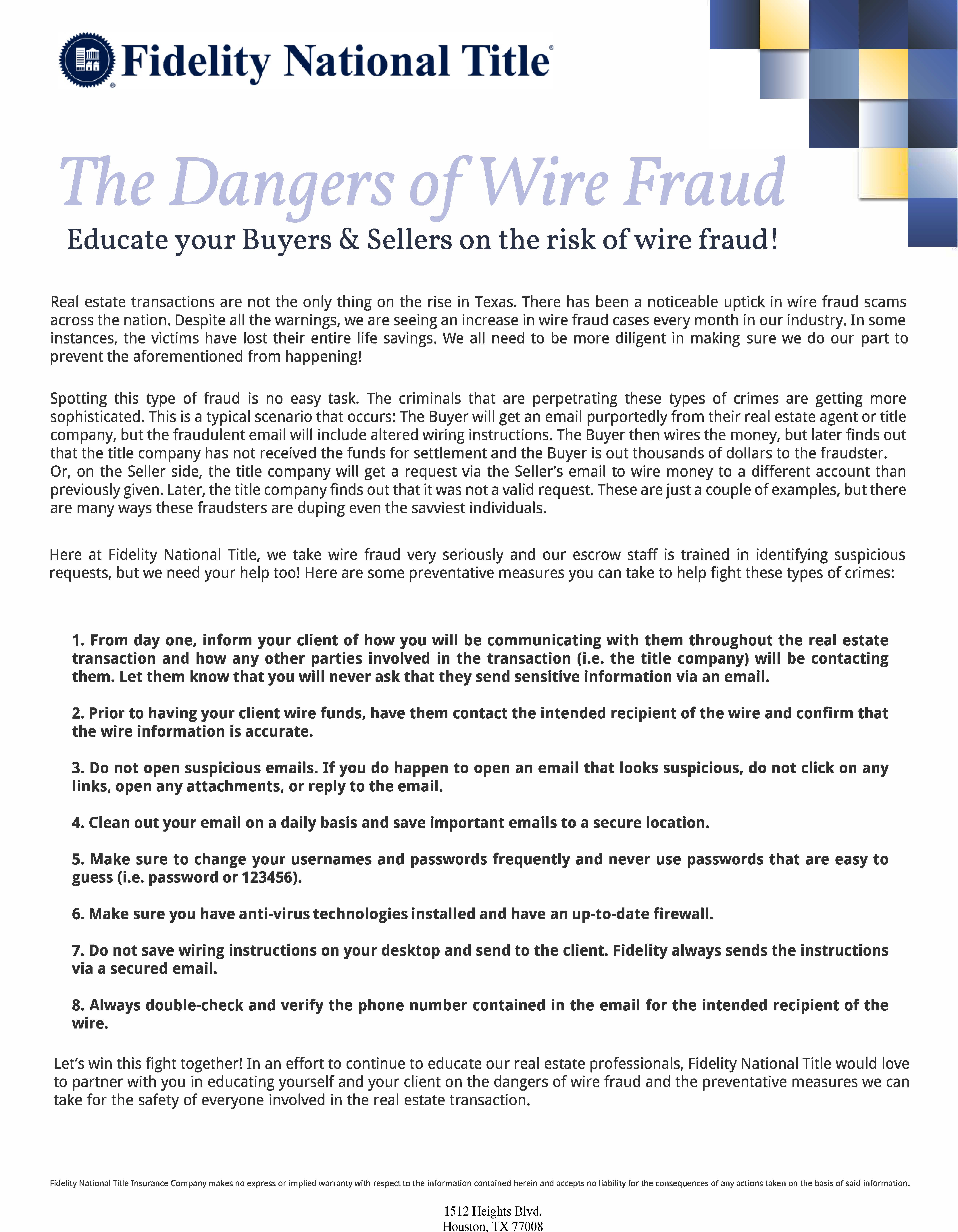 educate your buyers sellers on the risk of wire fraud the laird rh lairdlaw net fidelity investment wiring instructions wiring instructions for fidelity bank